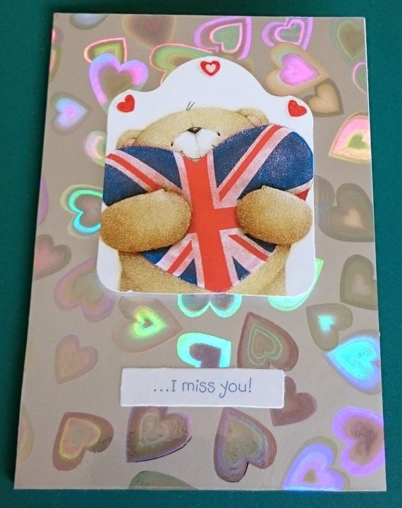 Handmade C7 3D Greeting Card  I Miss You by BavsCrafts on Etsy