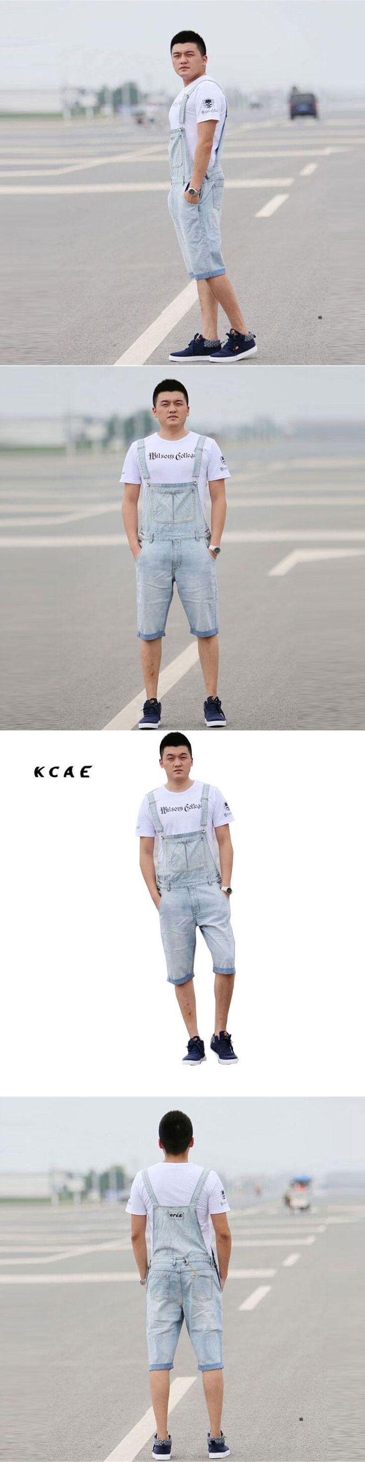 Denim Bib Overalls Shorts Men Summer Fashion Men's Jeans Jumpsuits Rompers Plus Size S M L XL 2XL 3XL 4XL 5XL