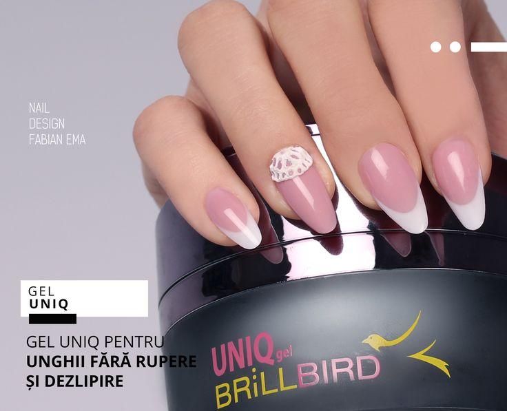 Manichiura French din Unq Gel BrillBird  www.brillbird.ro