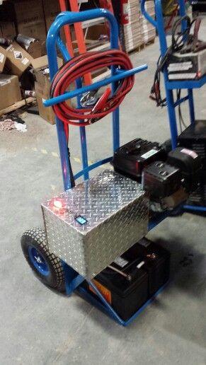 Battery Charger Jump Start Homemade Cart Garage