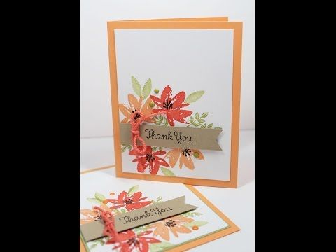 Stampin Up! Sale-a-bration Avant Garden Thank you card Chicago Area Class | Kitchen Table Stamper