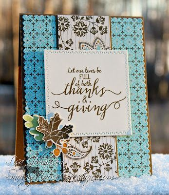 Snowy Moose Creations: Thanks and Giving for Sunday Stamps  SugarPea Designs Lovely Leaves