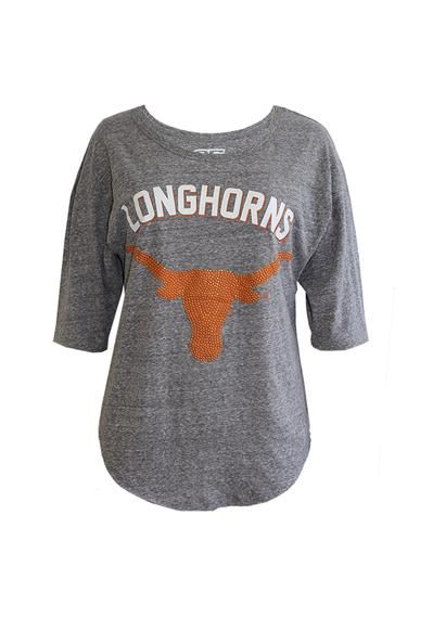 Texas Longhorns T-Shirt - Grey Longhorns Shirttail Womens Long Sleeve Tee http://www.rallyhouse.com/college/texas-longhorns/a/womens/b/t-shirts?utm_source=pinterest&utm_medium=social&utm_campaign=Pinterest-TexasLonghorns $32.99