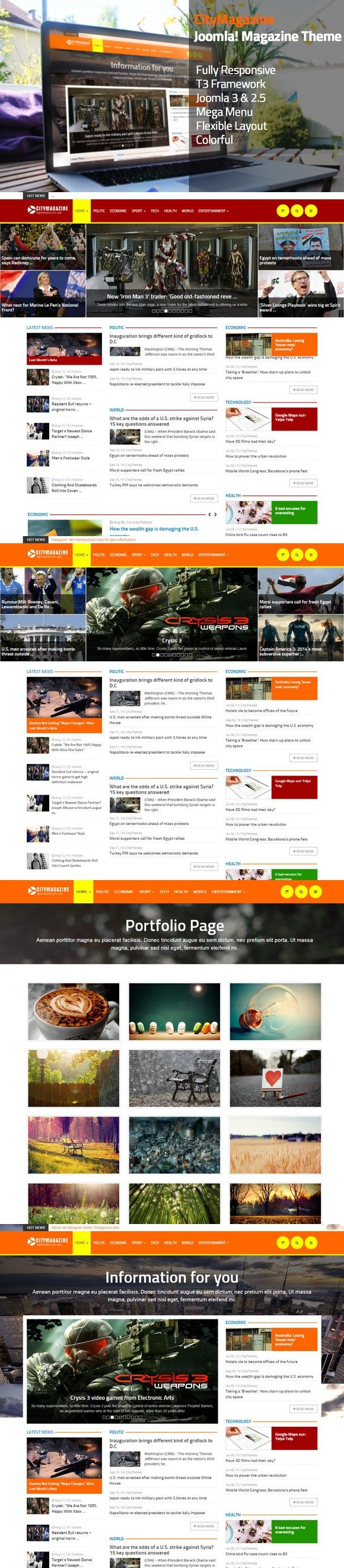 CityMagazine - Joomla Magazine Theme. Joomla Themes. $48.00