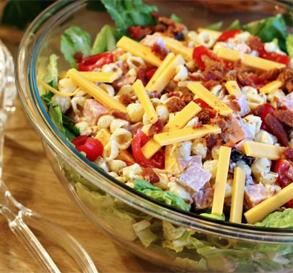 """Club Pasta Salad: """"Oh yessssss! I'm taking this to work for lunch! It's a great potluck item for the summer as well."""" -windywood"""