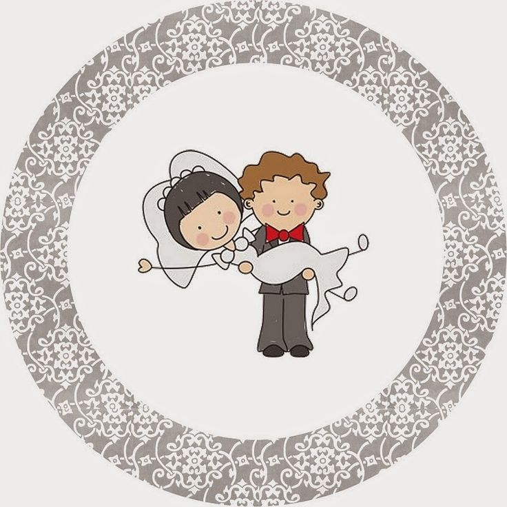 Sweet Wedding Couple Free Printable Candy Bar Labels.