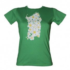 T-shirt Flowers Island Donna verde