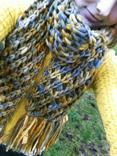 Knit Scarf Pattern Super Bulky Yarn : Super Bulky Poppins Scarf Knitting For Dummies (videos and patterns?