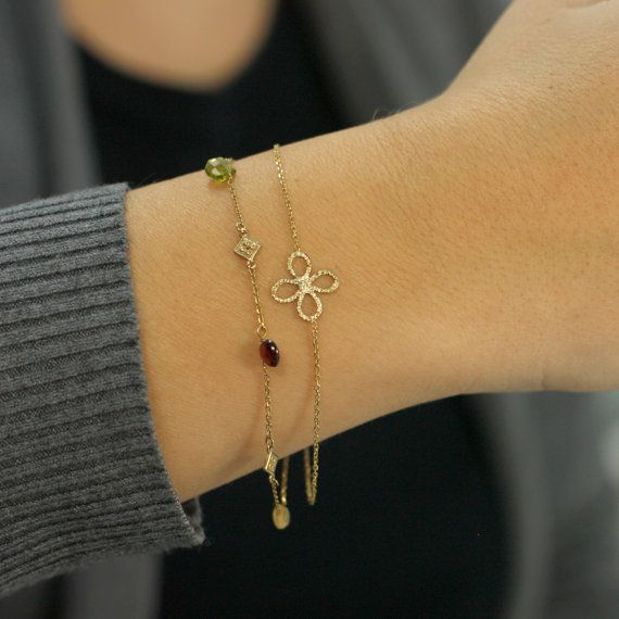 Multicolor natural gemstones bracelet with by KyklosJewelryLab