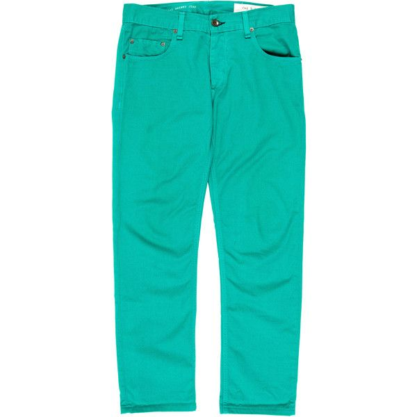 Pre-owned Rag & Bone RB 23x Jay Skinny Jeans (€58) ❤ liked on Polyvore featuring men's fashion, men's clothing, men's jeans, green, mens green jeans, mens skinny jeans, mens skinny fit jeans, mens green skinny jeans and mens jeans