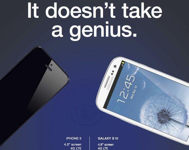 Apple iPhone , iPad and iPod Newsblog : Samsung iPhone 5 ad: Galaxy S III beats iPhone 5 in new advertisement