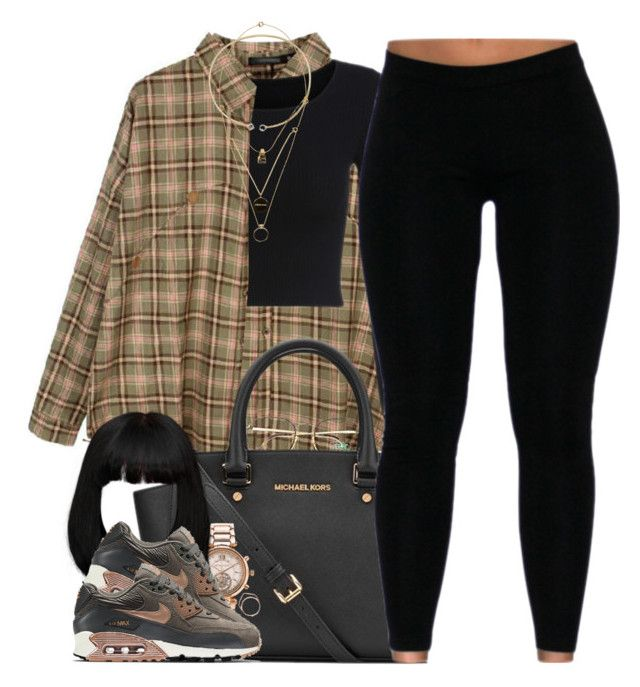 """""""Rustic"""" by oh-aurora ❤ liked on Polyvore featuring Retrò, Benetton, MICHAEL Michael Kors, Michael Kors, NIKE, Michelle Campbell Jewelry, Maison Margiela and rustic"""