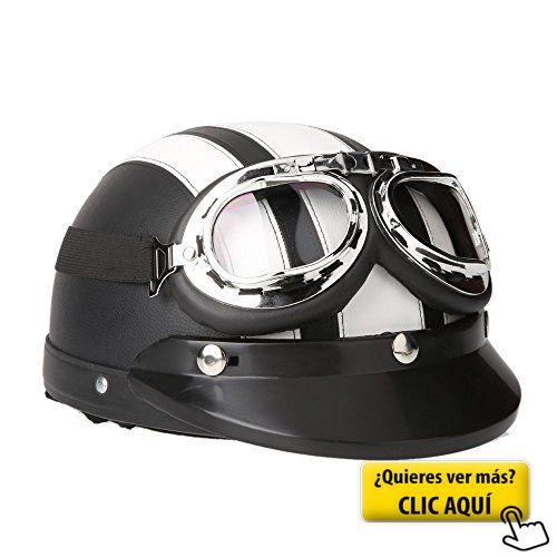 KKmoon Casco Abierto Protección para Motocicleta... #casco #moto