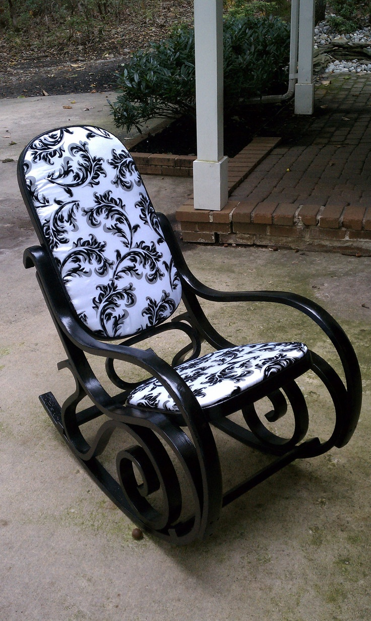 Bentwood rocking chair makeover - Elegant Bentwood Rocker By Bearyostudios On Etsy