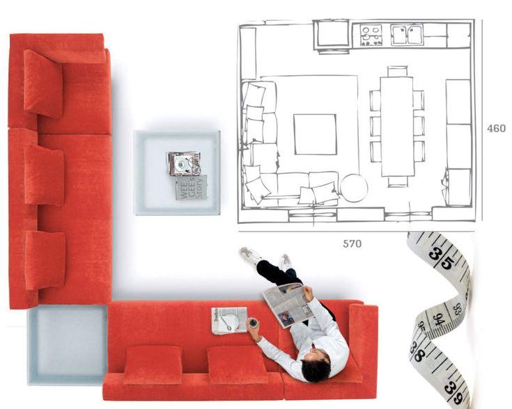 Prendere le misure per scegliere il divano esempio.