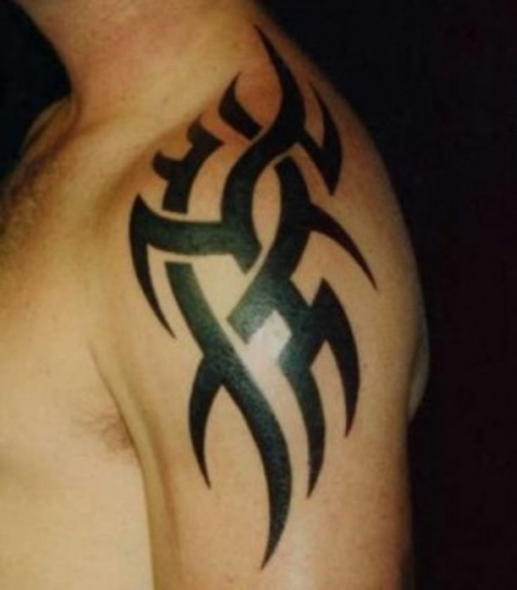 best 25 tribal shoulder tattoos ideas on