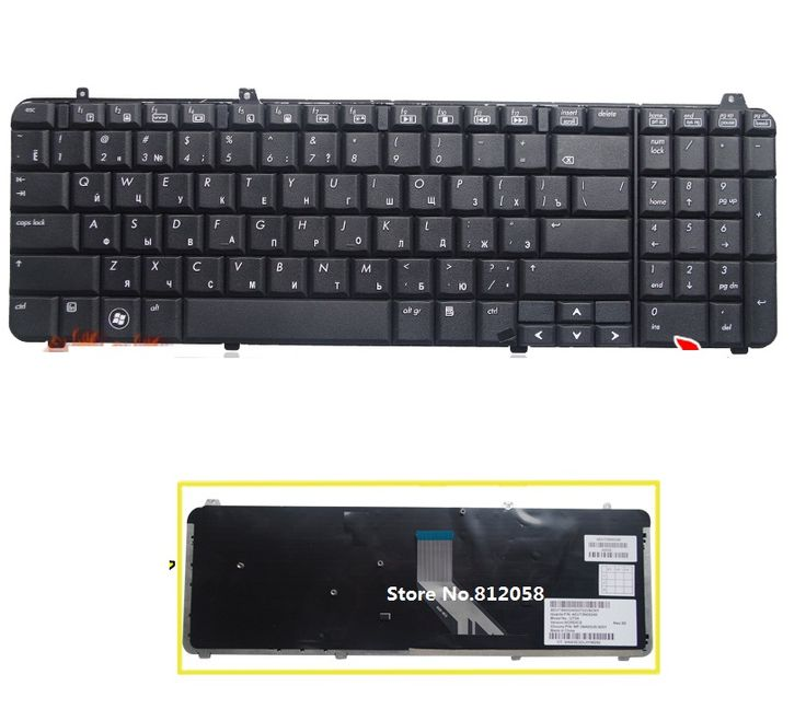 Brand New Russian RU Keyboard for HP Pavilion DV6 DV6T DV6-1000 DV6-1200 DV6T-1100 DV6T-1300 DV6-2000 Russian Keyboard black