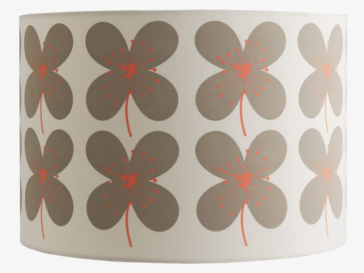 SAKURA MULTI-COLOURED fabric Fabric drum lampshade D30 x H20cm - HabitatUK