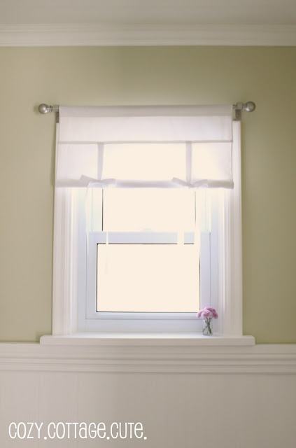 Tie-Up Shade ~ a great Pottery Barn Hack and easy way to make a curtain or window treatment!!