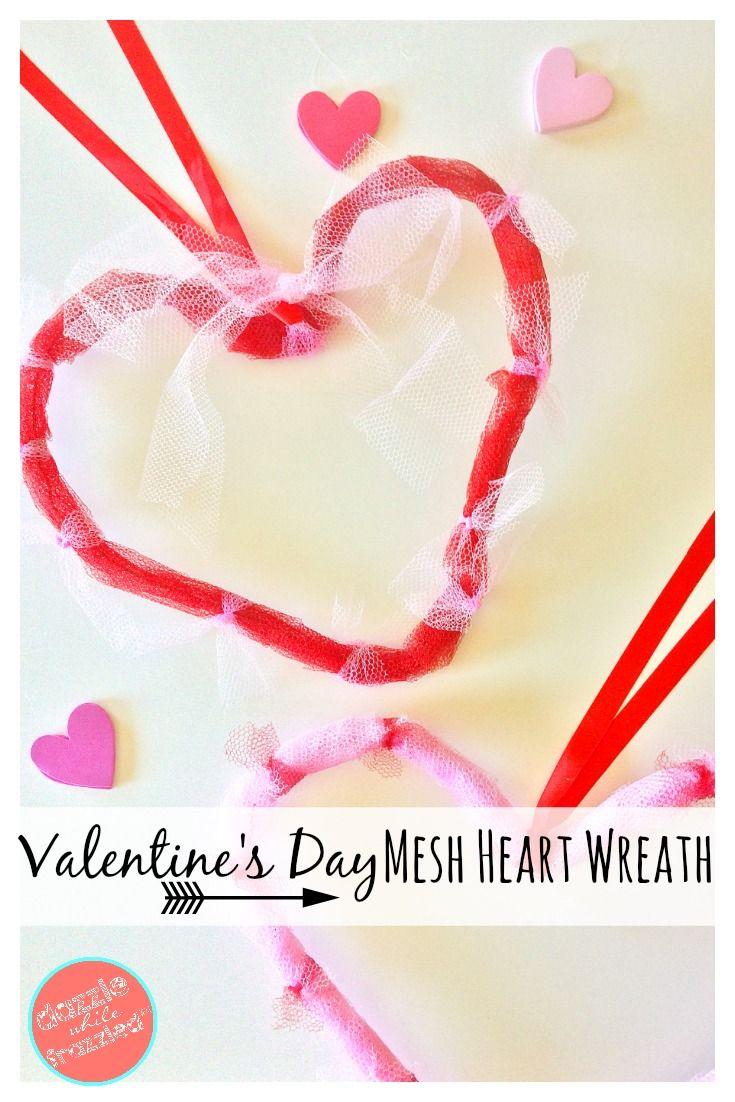 61 best valentines day decorations diy valentine party ideas 5 diy valentines day mesh heart door wreaths rubansaba