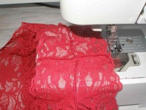 sewing with stretchy lace