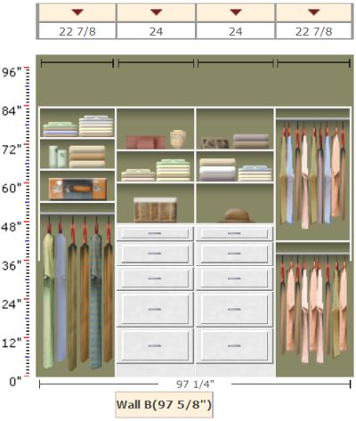 EasyClosets Organizing Solution   Eliminate That Bulky Dresser With A Closet  Organizer.