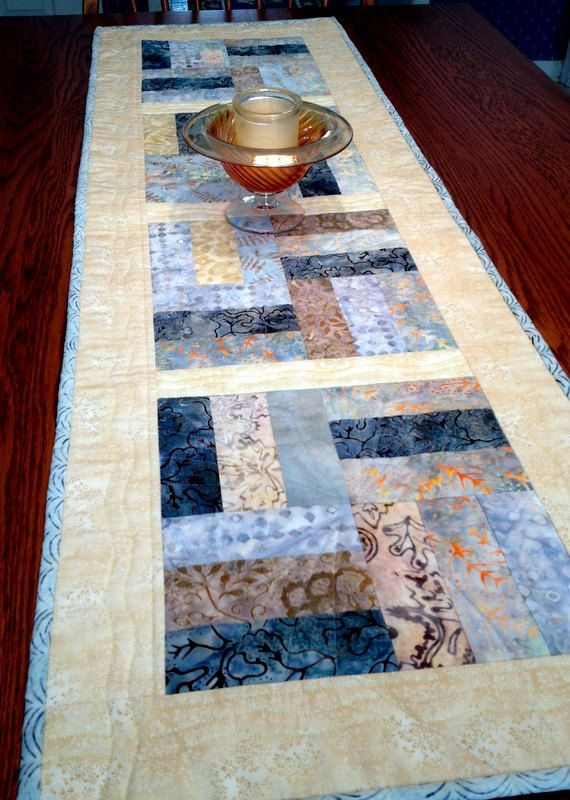 Hey, I found this really awesome Etsy listing at https://www.etsy.com/listing/220663035/quilted-batik-table-runner-batik-medley