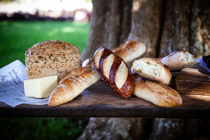 Freshly baked organic breads