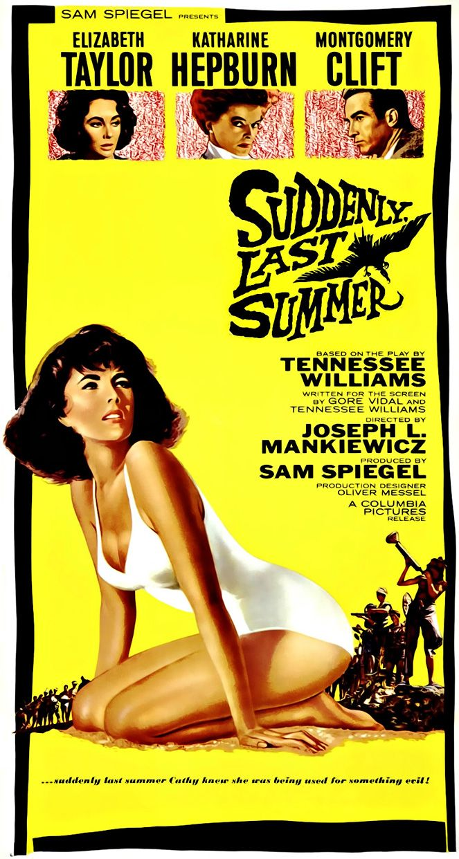 2/06/15  9:46a  Columbia Pictures ''Suddenly, Last Summer''  Elizabeth Taylor Katharine  Hepburn Montgomery Clift 1959  classicfilmsloaded.com