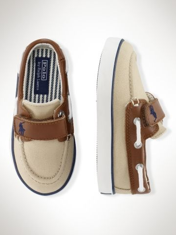 I would almost have a kid just to see him wear these RL boat shoes