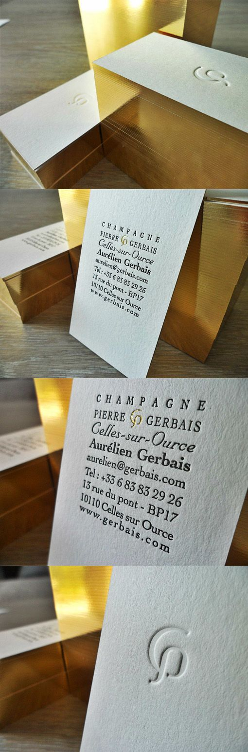 Best 25 luxury business cards ideas on pinterest black and these beautiful luxury business cards were made for a french vineyard which produces champagne magicingreecefo Image collections