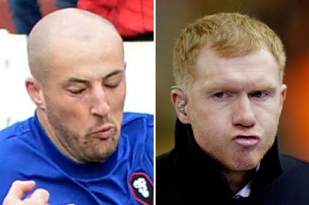 United legend Paul Scholes puts his foot in it by calling Salford City's Chris Lynch a nurse (apologies to all nurses!) - Manchester Evening News