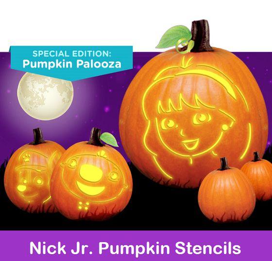 FREE Nick Jr Pumpkin Stencils