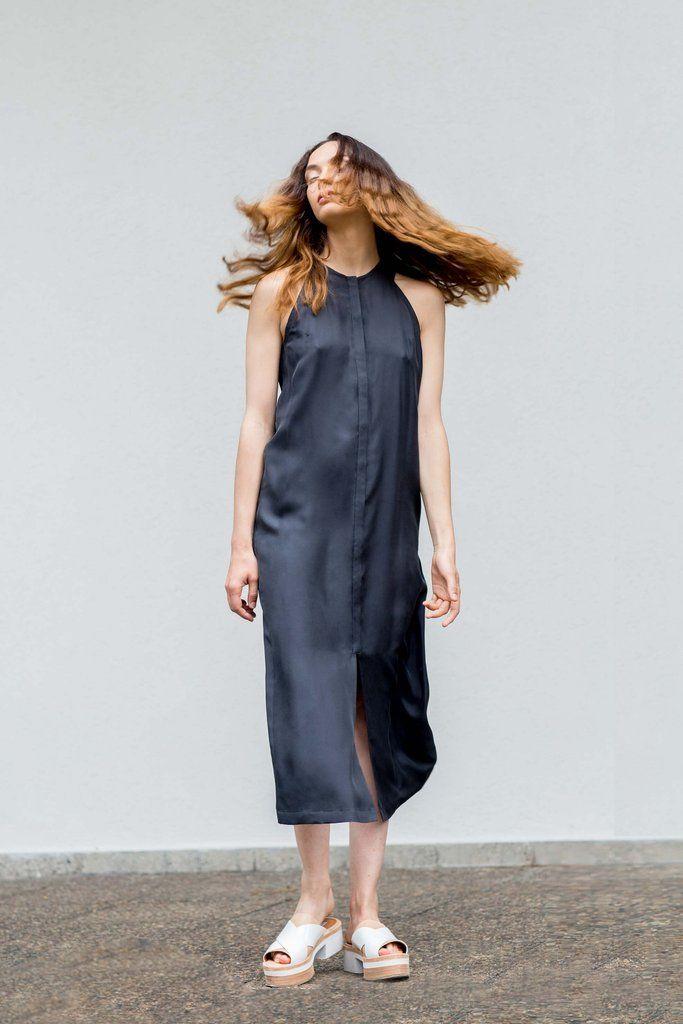 VON HUND Fashion & Design - Womenswear Lookbook S/S16, Black Silk Dress Adriana. Radical Price Transparency.  www.vonhund.com