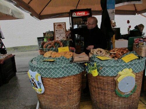 Salzburg pretzel vendor, they were delicious