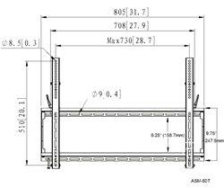 Vizio E500i-A1 tilting TV wall mount -All Star Mounts ASM-60T