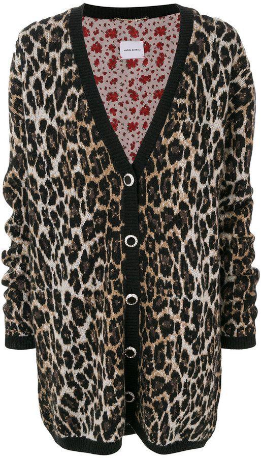 Magda Butrym oversized leopard print cardigan