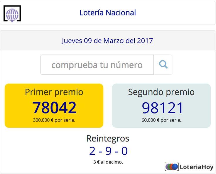 Lotería Nacional | Sorteo del #Jueves 9 de #Marzo de 2017 Comprobar décimo !! #Loteria #LoteriaNacional