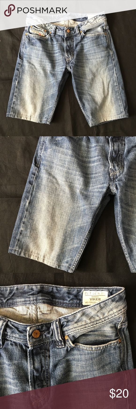 "Diesel Viker Denim Shorts Jean Shorts Men's 30 Inseam measures apx. 11.75"" and the rise measures apx. 8.5"". They are tag size 39x32 (they have an inseam length although they are Shorts). In overall great condition. Priced firm unless bundled. Diesel Shorts Jean Shorts"