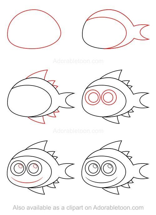 Comment dessiner un thon