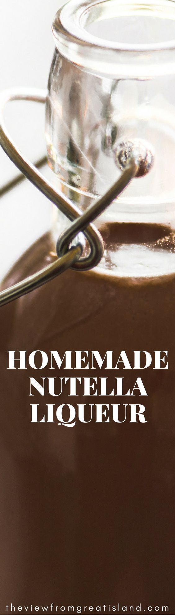 How to Make Homemade Nutella liquor  (Thought about using spiced rum, vanilla vodka, peppermint schnapps, or other alcohol)