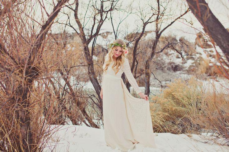 Winter bridal photography. Winter wedding colors. Winter flower bouquet. Stephanie Sunderland Photography. Utah wedding photographer. Vintage inspired wedding. Tan suit for groom. Pretty flower crown.