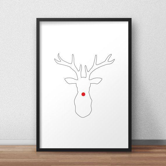 Guarda questo articolo nel mio negozio Etsy https://www.etsy.com/it/listing/498756791/christmas-natale-renna-poster-stampa