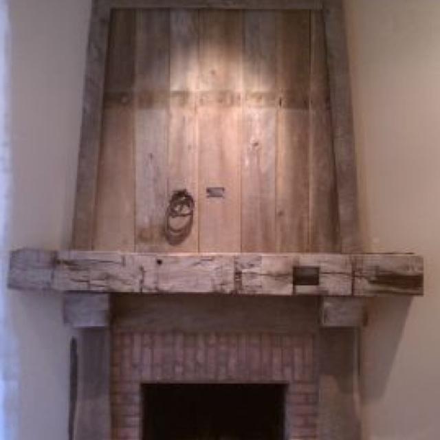 barnwood mantel | Wood Ya | Pinterest | Mantels, The o ...