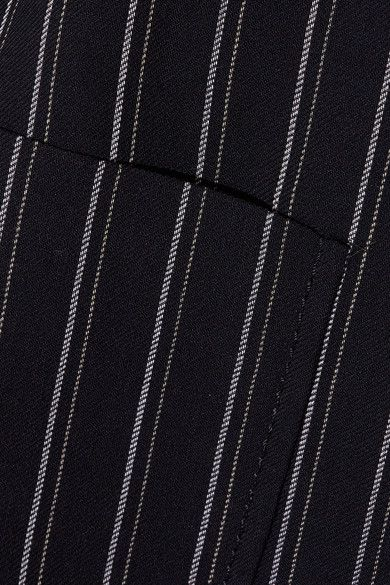 Acne Studios - Jada Belted Pinstriped Wool Blazer - Navy - FR36