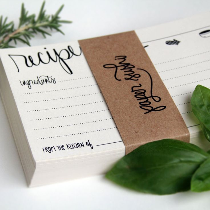 Perfect for kitchen themed bridal shower, gift for the bride, mother-of-the-bride or bridesmaids boxes. Beautiful hand lettered calligraphy printed in rich blac