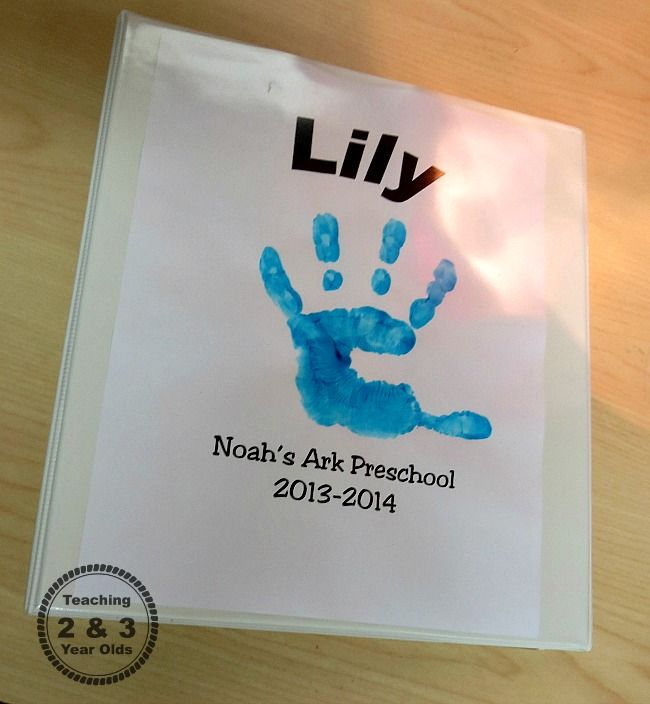 Preschool Memory Books; love the cover with the handprint, love the note from parents at the beginning