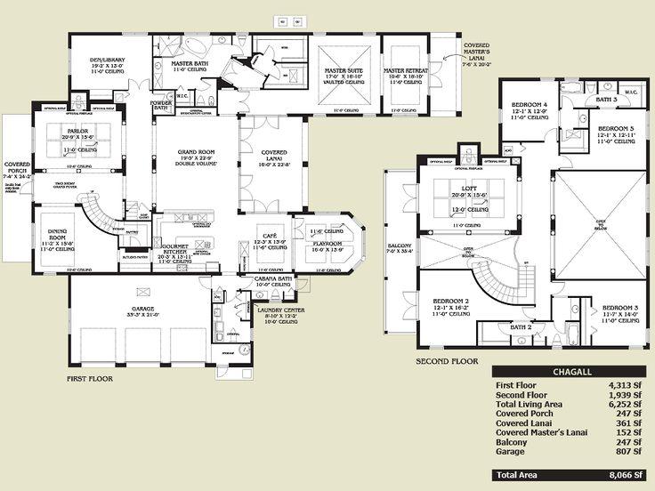 Spanish Style Home Floor Plans