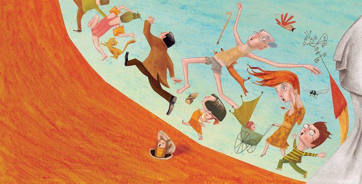 "Moran Barak book illustration for ""Gooly in the Frightendland""."