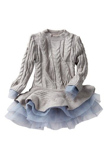 Image of Paulinie Flounce Sweater Tutu Dress (Toddler, Little Girls, & Big Girls)